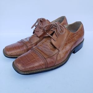 Stacy Adams brown leather lace up dress shoes